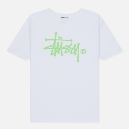 Женская футболка Stussy Basic Logo White