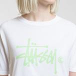 Женская футболка Stussy Basic Logo White фото- 3