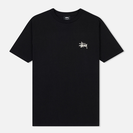 Женская футболка Stussy Basic Stussy Printed Logo Black
