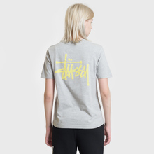 Женская футболка Stussy Basic Stussy Printed Logo Grey Heather фото- 3