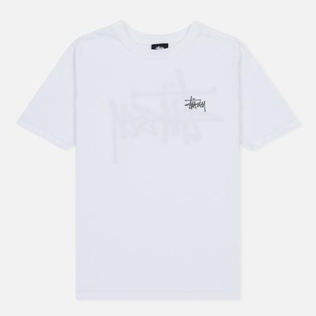Женская футболка Stussy Basic Stussy Printed Logo White