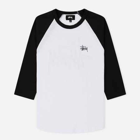 Женская футболка Stussy Campbell Baseball Raglan Black