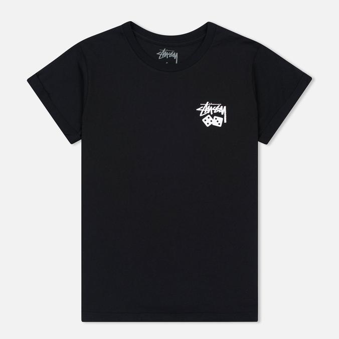 Женская футболка Stussy Dice Cuff Black