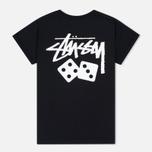 Женская футболка Stussy Dice Cuff Black фото- 3