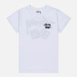 Женская футболка Stussy Dice Cuff White фото- 0
