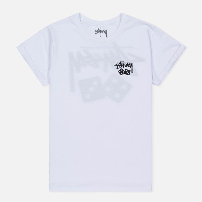 Женская футболка Stussy Dice Cuff White
