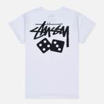 Женская футболка Stussy Dice Cuff White фото- 3