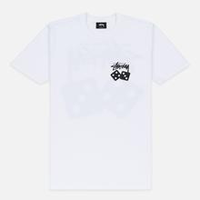 Женская футболка Stussy Dice White фото- 0