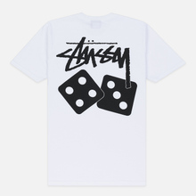 Женская футболка Stussy Dice White фото- 3