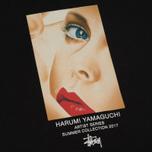 Женская футболка Stussy Harumi Yamaguchi Girl Boyfriend Black фото- 2