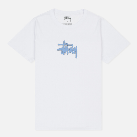 Женская футболка Stussy Puff Stock Boyfriend White