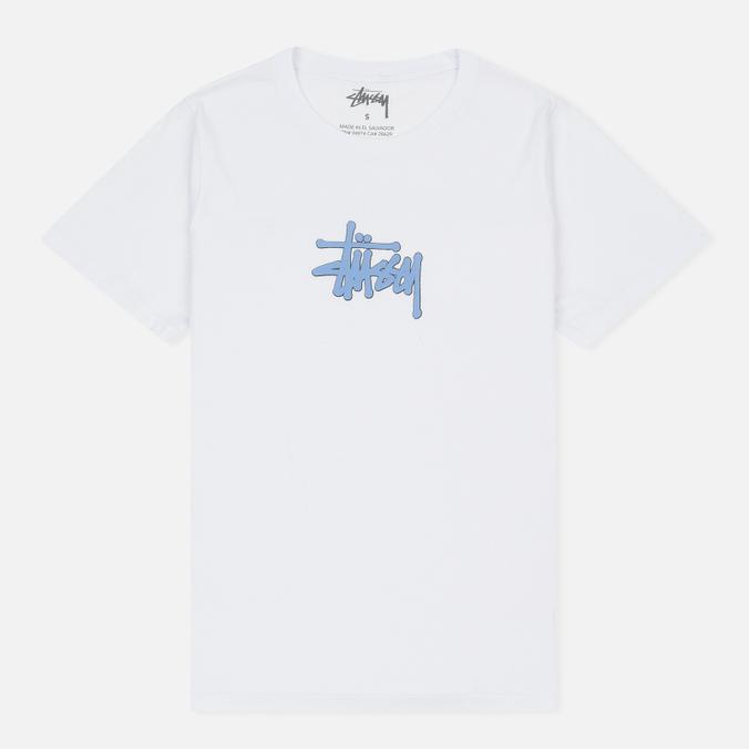 Женская футболка Stussy Puff Stock Boyfriend White