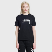 Женская футболка Stussy Stock Black фото- 1