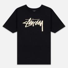 Женская футболка Stussy Stock Black/Beige фото- 0