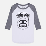 Женская футболка Stussy Stock Link Raglan White фото- 0
