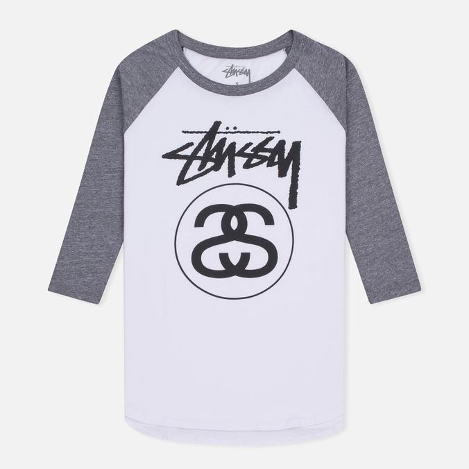 Женская футболка Stussy Stock Link Raglan White