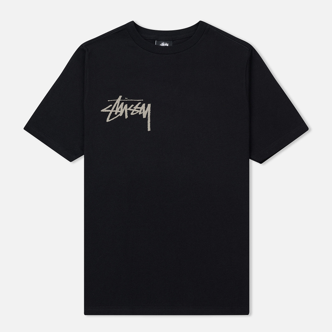 Женская футболка Stussy Stock Screen Print Black