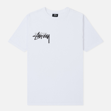 Женская футболка Stussy Stock Screen Print White