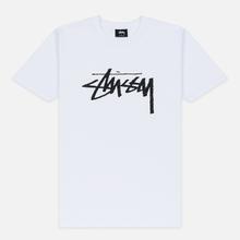 Женская футболка Stussy Stock White/Black фото- 0
