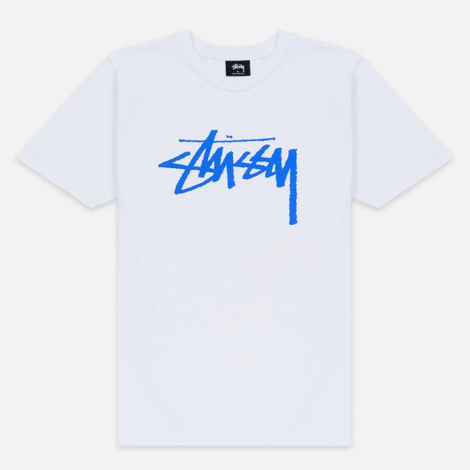 Женская футболка Stussy Stock White/Blue