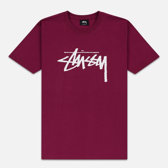 Женская футболка Stussy Stock Wine