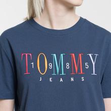 Женская футболка Tommy Jeans 1985 Embroidery Black Iris фото- 2