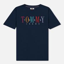 Женская футболка Tommy Jeans 1985 Embroidery Black Iris фото- 0