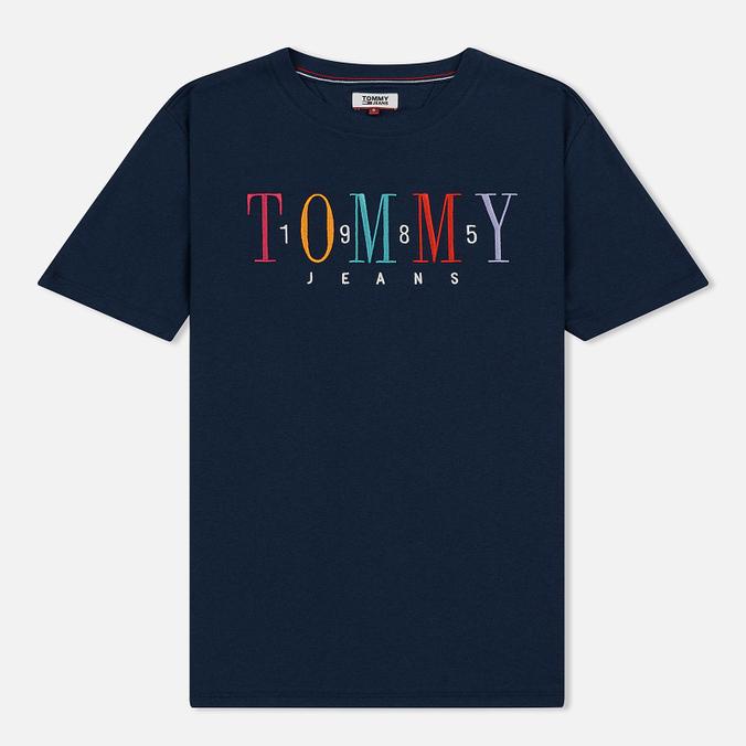 Женская футболка Tommy Jeans 1985 Embroidery Black Iris