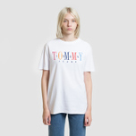 Женская футболка Tommy Jeans 1985 Embroidery Classic White фото- 1