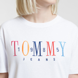 Женская футболка Tommy Jeans 1985 Embroidery Classic White фото- 2