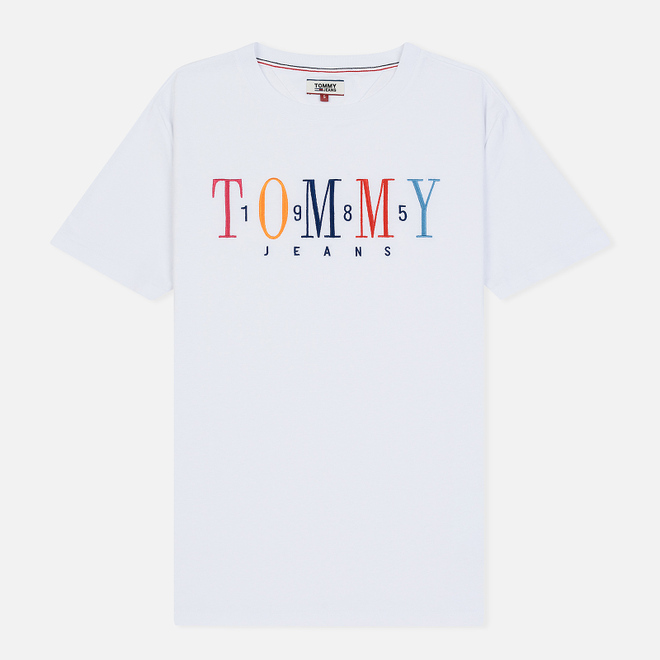 Женская футболка Tommy Jeans 1985 Embroidery Classic White