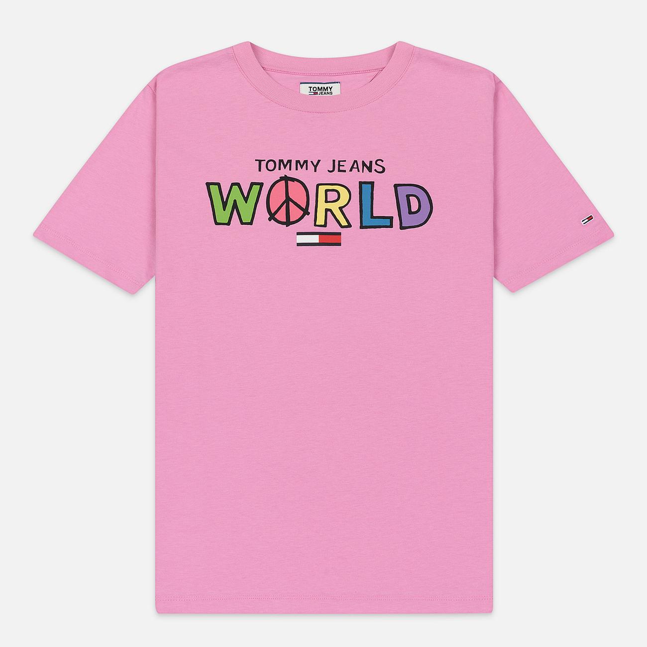 Женская футболка Tommy Jeans Bold Statement Lilac Chiffon