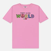 Женская футболка Tommy Jeans Bold Statement Lilac Chiffon фото- 0