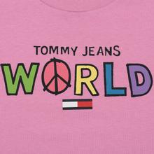 Женская футболка Tommy Jeans Bold Statement Lilac Chiffon фото- 2