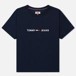 Женская футболка Tommy Jeans Boxy Clean Logo Black Iris фото- 0