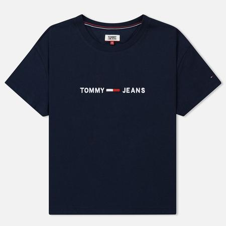 Женская футболка Tommy Jeans Boxy Clean Logo Black Iris