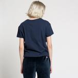 Женская футболка Tommy Jeans Boxy Clean Logo Black Iris фото- 2