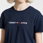Женская футболка Tommy Jeans Boxy Clean Logo Black Iris фото- 3