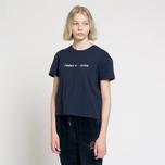 Женская футболка Tommy Jeans Boxy Clean Logo Black Iris фото- 1