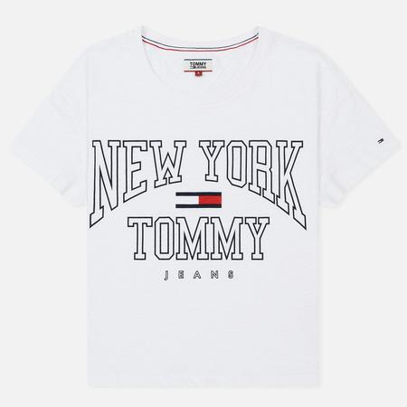 Женская футболка Tommy Jeans Boxy New York Bright White
