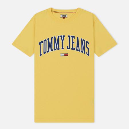 Женская футболка Tommy Jeans Collegiate Logo Aspen Gold