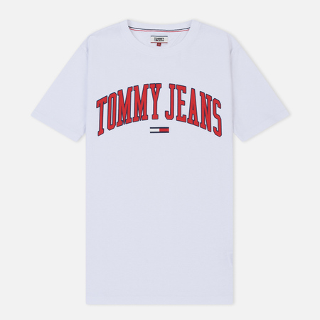Женская футболка Tommy Jeans Collegiate Logo Classic White