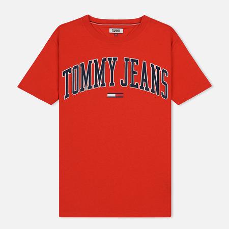 Женская футболка Tommy Jeans Collegiate Logo Flame Scarlet