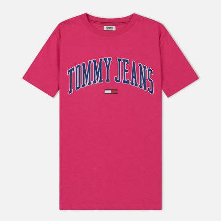 Женская футболка Tommy Jeans Collegiate Logo Fuchsia Purple