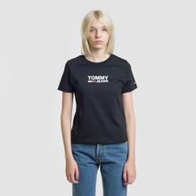 Женская футболка Tommy Jeans Corp Logo Black фото- 1