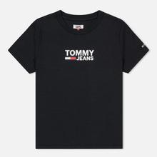 Женская футболка Tommy Jeans Corp Logo Black фото- 0
