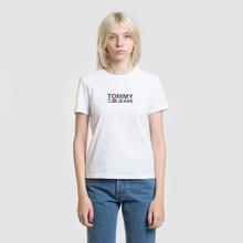 Женская футболка Tommy Jeans Corp Logo Classic White фото- 1