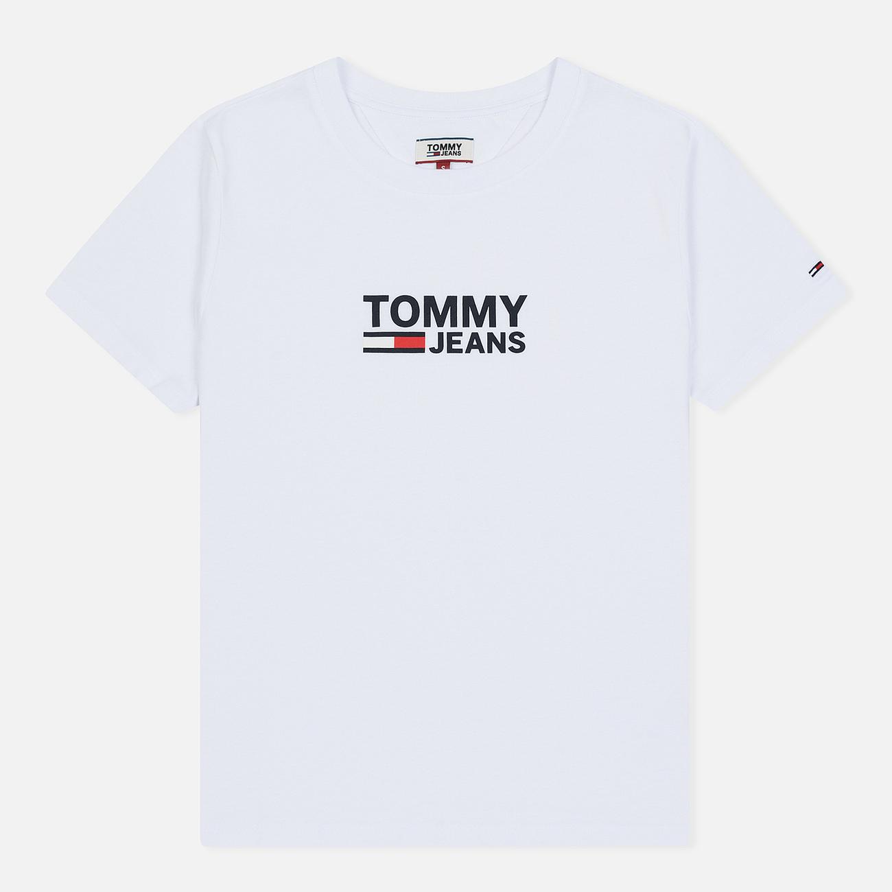 Женская футболка Tommy Jeans Corp Logo Classic White