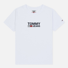 Женская футболка Tommy Jeans Corp Logo Classic White фото- 0