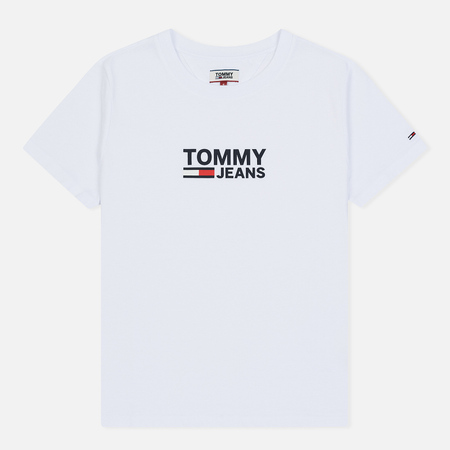 Женская футболка Tommy Jeans Corp Logo Classic White